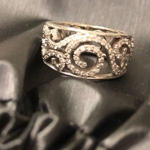 Jewelry - Diamond Art Deco Ring